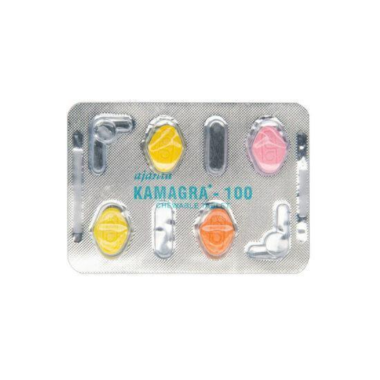 Kamagra 100 Chewable tabs front blister